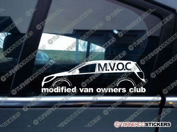 MVOC modified van owners club sticker - for Vauxhall Opel Astra H Van Mk5